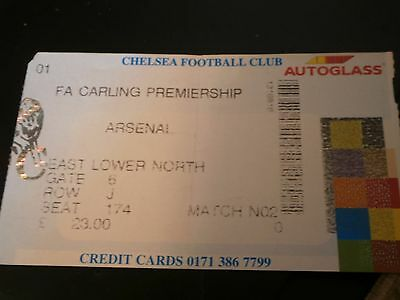 Chelsea v Arsenal Undated League Match Ticket
