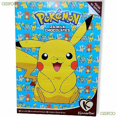 Official Pokemon Pikachu 2016 Advent Calendar Christmas Nut-Free Milk Chocolates