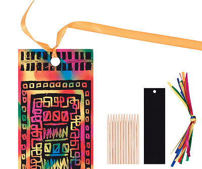 New Scratch Art Bookmark Kit (Pack of 12), Au Seller