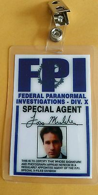X-files TV Series ID Badge-Fox Mulder costume prop cosplay