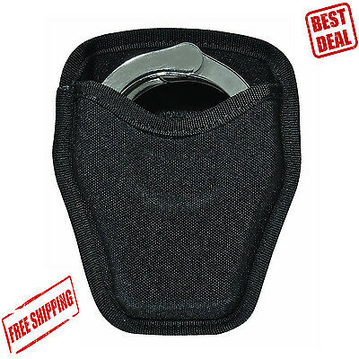 Handcuff Case Black Police Nylon Belt Holder Security Pouch Duty Snap Safety Bag