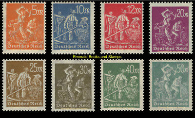 EBS Germany 1922-1923 Workers - Arbeiter - Michel 238-245 MNH**