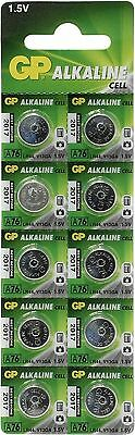 10x GP Batteries LR44 A76 1.5v Alkaline Coin Battery For Watches Calculator Toys