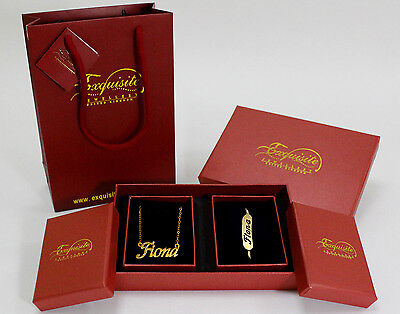 Name Necklace and Bracelet Gift Set - Fiona - Gold Plated Christmas Gifts