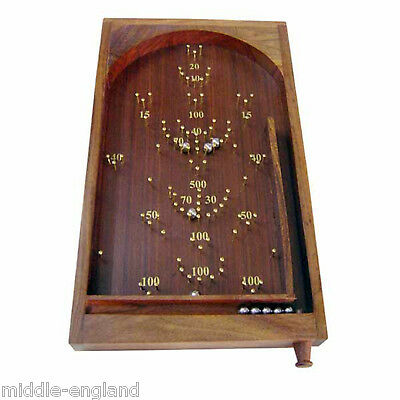 Bagatelle Traditional Table Top Game 30Cm X 45Cm Solid Wood/brass Pinball Game
