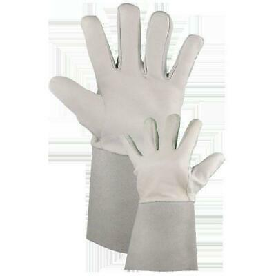 Premium Soft Leather Grey TIG Welding Gloves Gauntlets