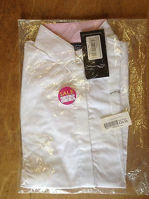 Shires Ladies Victoria Riding Show Shirt White Size Extra Small