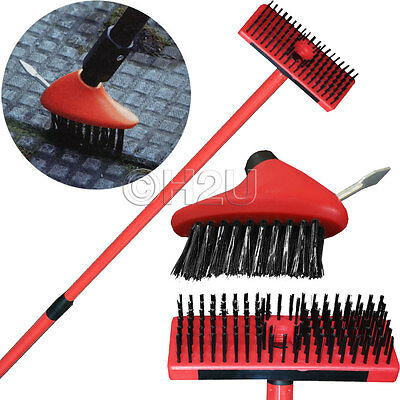 2Pc Steel Wire Cleaning Brush Set Patio Decking Garden Paths Weed Removal Tools
