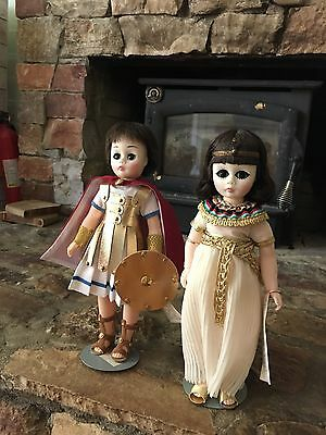"""Vintage Madame Alexander Pair: Cleopatra and Marc Antony 11"""" (#1315 and #1310)"""