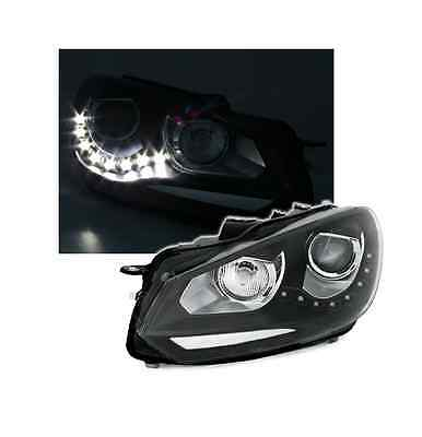 Lot De 2 Feux Phare Avant Vw Golf 6 A Led Look Phare Xenon