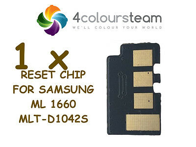 1x TONER RESET CHIP FOR SAMSUNG ML 1660 MLT-D1042S 1665/1860/1865/1660/1671/1675