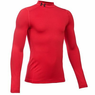Under Armour Junior ColdGear EVO Fitted Baselayer Mock - Red 2015