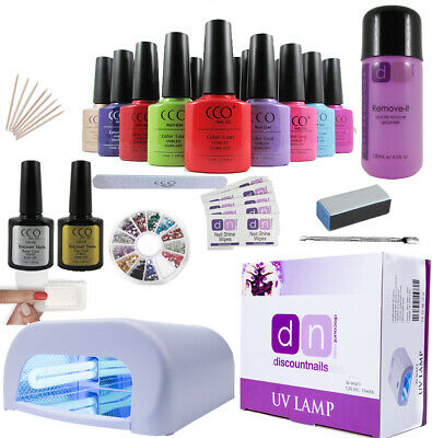 Deluxe UV Nail Gel Polish Starter Kit Set with 36w Lamp Light CCO