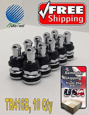Tire Valve Stems High Performance Chrome Metal Bolt InTR5991B / TR-5991B 10 qty.