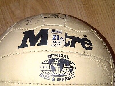 England Football Signed Autograph Football 1991 Retro *very Rare*
