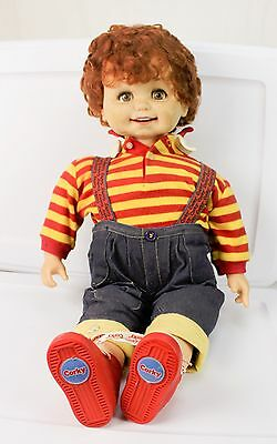 """Vintage Playmates Talking Corky Doll 25"""" Tall Red Hair & Clothes Works"""