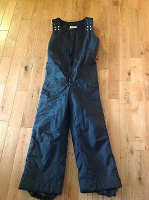 Vintage Ski-Doo Bombardier Black Snowmobile Insulated Pants Bib Winter Men's M