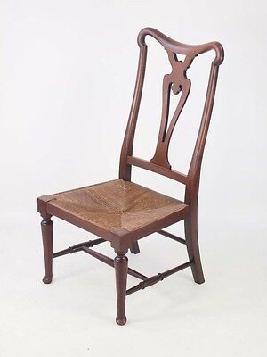 Antique Arts Crafts  Chair - Small Vintage Low Nursing Dressing Table Chair