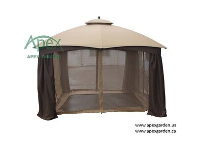 APEX GARDEN Replacement Insect Net for LOWE'S Allen Roth 10X12 Gazebo GF-12S004B