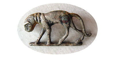 PCW-AN225-ROMAN SILVER FIBULA of a Panther, Ca. 1st-2nd Century AD. Rare.