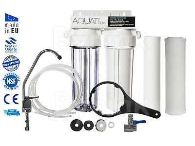 Home Undersink Ceramic Drinking Water Filter Domestic Tap Kit + Accessories