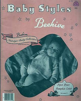 Vintage Beehive Baby Styles Knitting Book  Layettes, Sweaters