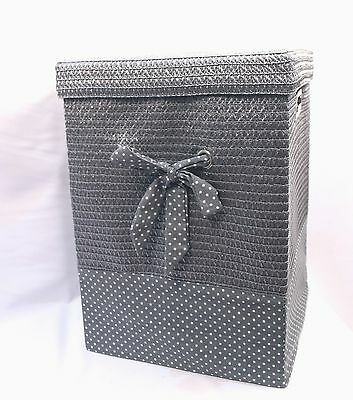 Quality Laundry/ Hamper Lidded And Linned Basket