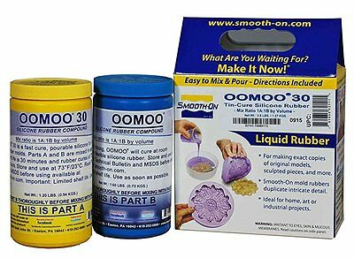 Smooth-On Silicone Mold Making Rubber Oomoo 30 - 2.8 lb New Free Shipping