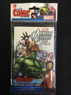 Avengers Assemble Hulked Out Heroes Fun Pack Micro Comic Poster Stickers Standee