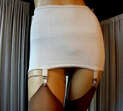 Vintage 60s Off White Firm Control Girdle with 4 Metal Garters/Suspenders JR49