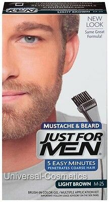 Just For Men Light Brown Moustache and Beard M-25 M25- FREE DELIVERY
