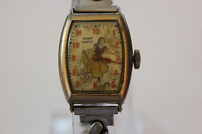 Vintage Snow White 1947 W.D.P Ingersoll/US Time Collectible Mechanical Watch