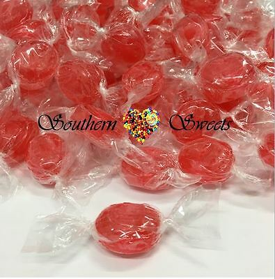 Red Lollies Strawberry Wrapped Candy 1Kg Approx 200Ct Xmas Christmas Lollies