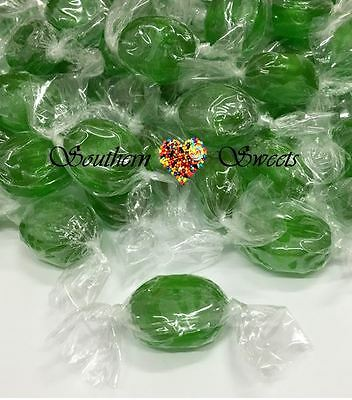 Green Apple Lollies Wrapped Candy 1Kg Approx 200Ct Xmas Christmas Lollies