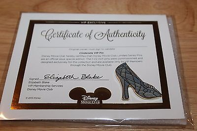 Brand New Disney Limited Edition Cinderella High Heel Shoe Pin! With Certificate