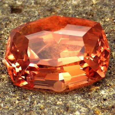 PADPARADSCHA OREGON SUNSTONE 4.27Ct FLAWLESS-FOR BEAUTIFUL JEWELRY/ INVESTMENT!