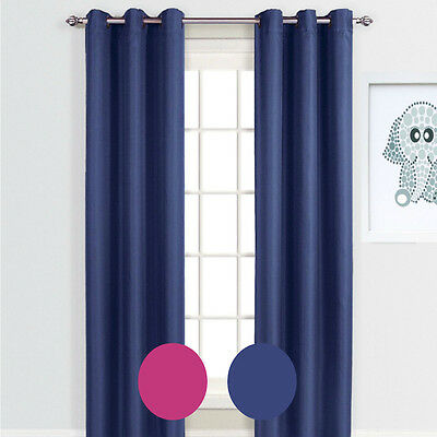 Quickfit Kid's 100% Blockout Curtain Eyelet Thermal Coated Lined