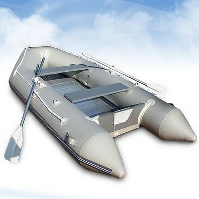 Outdoor Inflatable Dinghy with Alumnium Hull Sturdy 3 Layer Mesh Quality Motors