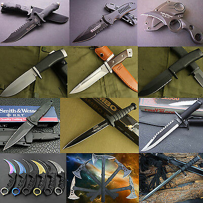 Lots Camping Diving Hunting Survival Claw Knives Fixed Folding Pocket Knife Tool