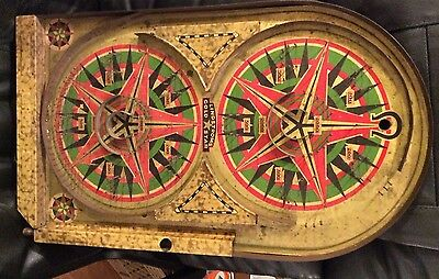1934 Lindstrom's Tin Gold Star Table Game / Pinball - Works!