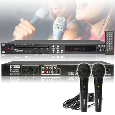 Professional PDC150 DVD CD+G Home Karaoke Party Player Package with Microphones