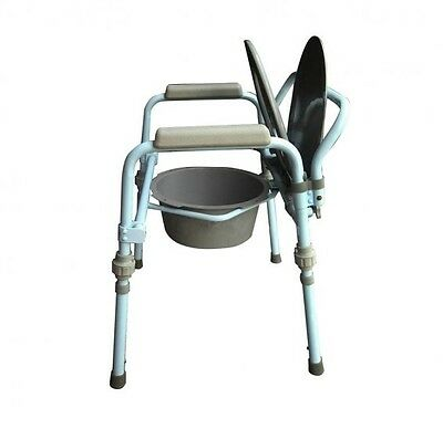 Adult Bedside Toilet Commode Potty Chair Handicap Seat Bucket Safety Bariatric