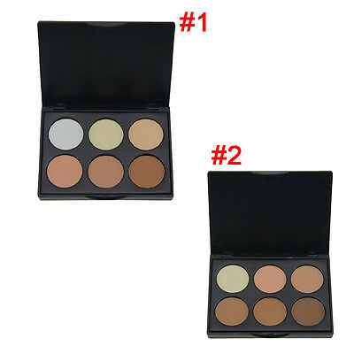 6 Colors Contour Face Cream Concealer Highlight Bronzer Powder Makeup Palette