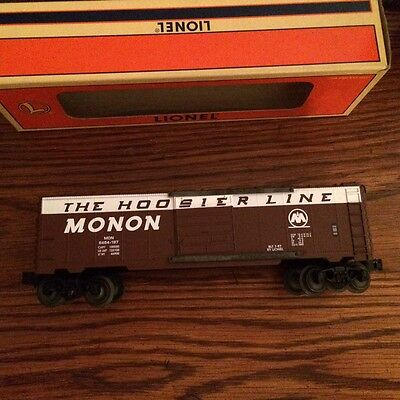 "Lionel 19289 6464 Monon ""Hoosier Line"" Boxcar. New in Box! Made in Michigan USA!"