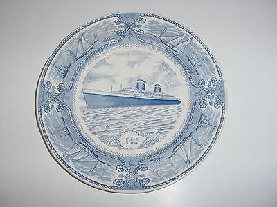 SS UNITED STATES LINES  Large Show Plate  /  English China  /  Perfect Condition