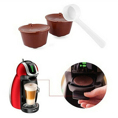 2X Refillable Reusable Coffee Capsule Pods Cup for Nescafe Dolce Gust Machine EC
