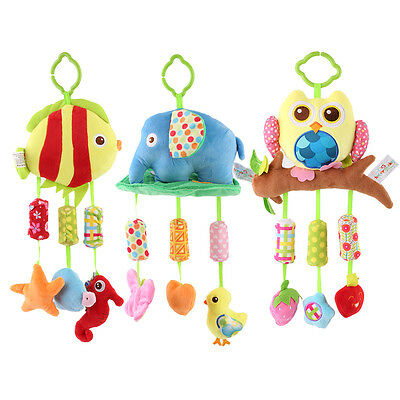 New Lovely Infant Baby Hanging Toy Plush Kids Child Bed Wind Chimes Toys AU