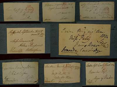 Collection Of 8 Autographe Envelopes British Peers & Politicains 1824-30 #b721S