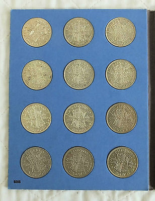 1939 To Date Complete Whitman Half Crown Collection - 30 Coins All Better Grade