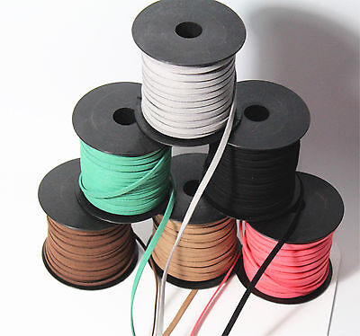 Wholesal Suede Cord Leather Lace Jewellery Making Beading Flat Thread StringROPE
